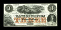 Canadian Currency: , Clifton, CAN- The Bank of Clifton $3 Oct. 1, 1859 Ch. 125-10-04-04....