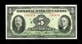 Canadian Currency: , Toronto, ONT- Imperial Bank of Canada $5 Nov. 1, 1934 Ch. 375-22-04. ...