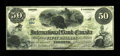 Canadian Currency: , Toronto, ONT- The International Bank of Canada $50 June 1, 1859 Ch.380-12-06. ...