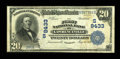 National Bank Notes:Virginia, Lawrenceville, VA - $20 1902 Plain Back Fr. 652 The First NB Ch. #(S)9433. ...