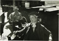 """Movie/TV Memorabilia:Autographs and Signed Items, Katharine Hepburn Signed Photo. A b&w 13.5"""" x 9.5"""" photo of Hepburn on an unknown set, inscribed to friend/make-up artist Em... (Total: 1 Item)"""