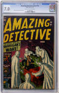 Golden Age (1938-1955):Horror, Amazing Detective Cases #12 (Atlas, 1952) CGC FN/VF 7.0 Cream tooff-white pages....