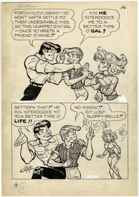 Al Capp Studio Li'l Abner and the Creatures from Drop-Outer Space (#nn) Story Page 10 Original Art (US Dept. of La
