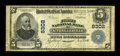 National Bank Notes:Maryland, Kitzmillerville, MD - $5 1902 Plain Back Fr. 600 The First NB Ch. #8302. ...
