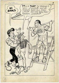 Al Capp Studio Li'l Abner and the Creatures from Drop-Outer Space (#nn) Story Page 11 Original Art (US Dept. of La