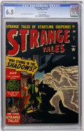 Golden Age (1938-1955):Horror, Strange Tales #7 (Marvel, 1952) CGC FN+ 6.5 Off-white pages....