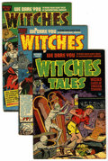 Golden Age (1938-1955):Horror, Witches Tales Group (Harvey, 1951-53) Condition: Average VG+....(Total: 5 Comic Books)