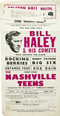 "Music Memorabilia:Posters, Bill Haley & His Comets Vintage Handbill (1964). A 5.5"" x 11""handbill for a performance by Bill Haley and His Comets on Sep...(Total: 1 Item)"
