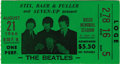 Music Memorabilia:Tickets, Beatles Busch Stadium Concert Used Ticket. When their August 20,1966 performance at Crosley Field in Cincinnati was resched...(Total: 1 Item)