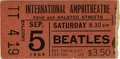 Music Memorabilia:Tickets, Beatles International Amphitheatre 1964 Ticket Stub. A brownbalcony stub from their September 5, 1964 performance at the In...(Total: 1 Item)