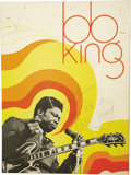 Music Memorabilia:Autographs and Signed Items, B.B. King Signed Press Kit Folder. A press kit folder from an unspecified tour, inscribed and signed by King on the front co... (Total: 1 Item)
