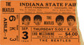 Music Memorabilia:Tickets, Beatles Indiana State Fair Concert Ticket Stub. A used ticket(peach-colored, to the end mezzanine) for the first of two sho...(Total: 1 Item)