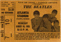 Music Memorabilia:Tickets, Beatles Atlanta Stadium Concert Ticket Stub (1965). Another usedticket from their stellar show at the Atlanta Stadium in Au...(Total: 1 Item)
