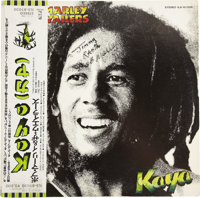 "Bob Marley Signed Copy of ""Kaya"". A Japanese pressing of Bob Marley & The Wailers' 1978 LP Kaya, with a ra..."