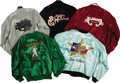 Music Memorabilia:Memorabilia, Assorted Country Music Tour Jackets. Includes a green satin LorettaLynn Show tour jacket, a black satin Barbara Mandrell to... (Total:5 Item)