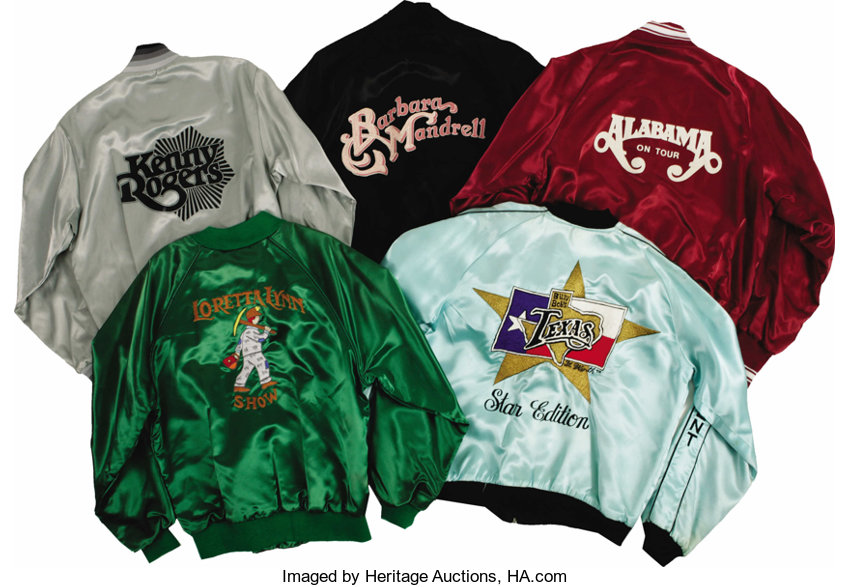 Assorted Country Music Tour Jackets  Includes a green satin Loretta