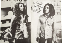 Bob Marley Signed Japanese Program Book. A very rare 28-page program book from Marley's 1979 tour of Japan, featuring nu...