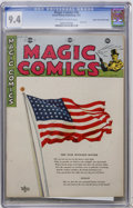Golden Age (1938-1955):Miscellaneous, Magic Comics #36 Mile High pedigree (David McKay Publications, 1942) CGC NM 9.4 Off-white to white pages....