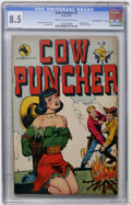"Golden Age (1938-1955):Western, Cow Puncher Comics #2 Davis Crippen (""D"" Copy) pedigree (Avon,1947) CGC VF+ 8.5 Cream to off-white pages...."