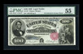 Large Size:Legal Tender Notes, Fr. 179 $100 1880 Legal Tender PMG About Uncirculated 55....
