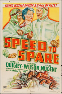 "Speed to Spare (Columbia, 1937). One Sheet (27"" X 41""). Drama"