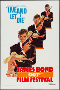 """James Bond Film Festival - Live and let Die (United Artists, R-1976). One Sheet (27"""" X 41"""") Style A. Bond"""