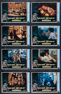 "Moonraker (United Artists, 1979). CGC Graded Lobby Card Set of 8 (11"" X 14""). James Bond. ... (Total: 8 Items)"