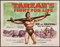 "Movie Posters:Adventure, Tarzan's Fight for Life (MGM, 1958). Half Sheet (22"" X 28"") StyleA. Adventure.. ..."