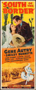 "Movie Posters:Western, South of the Border (Republic, 1939). Insert (14"" X 36""). Western.. ..."