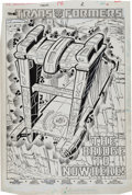 Original Comic Art:Splash Pages, Don Perlin, Keith Williams and Vince Colletta Transformers#18 Splash Page 1 Original Art (Marvel, 1986)....