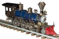 LIVE STEAM MODEL OF A HISTORIC AMERICAN LOCOMOTIVE Early 20th century 12 x 29 inches (30.5 x 73.7 cm)