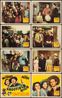 "Shooting High (20th Century Fox, 1940). Lobby Card Set of 8 (11"" X 14""). Western. ... (Total: 8 Items)"