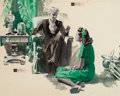 Mainstream Illustration, HARRY TIMMINS (American, 1887-1963). A Conversation, magazinestory illustration, circa late 1930s. Watercolor and ink w...