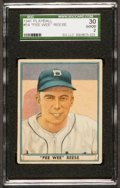 Baseball Cards:Singles (1940-1949), 1941 Play Ball Pee Wee Reese #54 SGC 30 Good 2....