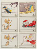 Animation Art:Limited Edition Cel, Grinch Animation Storyboards Original Art (undated).... (Total: 6Original Art)