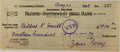Autographs:Authors, Zane Grey, American Author of Western Novels. Signed PersonalCheck. Very good....