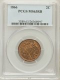 Two Cent Pieces: , 1866 2C MS63 Red and Brown PCGS. PCGS Population (70/189). NGCCensus: (23/145). Mintage: 3,177,000. Numismedia Wsl. Price ...