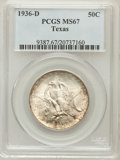 Commemorative Silver: , 1936-D 50C Texas MS67 PCGS. PCGS Population (315/13). NGC Census:(257/10). Mintage: 9,039. Numismedia Wsl. Price for probl...