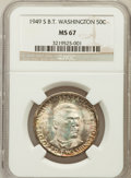 Commemorative Silver: , 1949-S 50C Booker T. Washington MS67 NGC. NGC Census: (56/0). PCGSPopulation (27/0). Mintage: 6,004. Numismedia Wsl. Price...