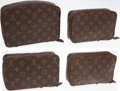 Luxury Accessories:Accessories, Set of Four; Louis Vuitton Classic Monogram Canvas Jewelry Cases.... (Total: 4 Items)