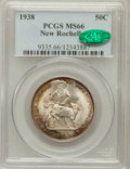 Commemorative Silver: , 1938 50C New Rochelle MS66 PCGS. CAC. PCGS Population (871/155).NGC Census: (525/101). Mintage: 15,266. Numismedia Wsl. Pr...