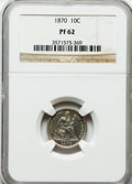 Proof Seated Dimes: , 1870 10C PR62 NGC. NGC Census: (12/111). PCGS Population (30/123).Mintage: 1,000. Numismedia Wsl. Price for problem free N...