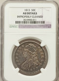 Bust Half Dollars: , 1813 50C -- Improperly Cleaned -- NGC Details. AU. NGC Census:(27/528). PCGS Population (68/250). Mintage: 1,241,903. Numi...