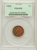 Proof Indian Cents: , 1906 1C PR64 Red and Brown PCGS. PCGS Population (111/32). NGCCensus: (45/54). Mintage: 1,725. Numismedia Wsl. Price for p...