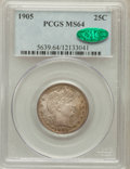 Barber Quarters: , 1905 25C MS64 PCGS. CAC. PCGS Population (34/30). NGC Census:(40/16). Mintage: 4,968,250. Numismedia Wsl. Price for proble...