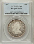 Early Half Dollars: , 1807 50C Draped Bust VG10 PCGS. PCGS Population (62/1108). NGCCensus: (32/1585). Mintage: 301,076. Numismedia Wsl. Price f...