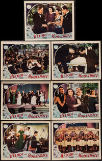 "Melody and Moonlight (Republic, 1940). Lobby Cards (7) (11"" X 14""). Musical. ... (Total: 7 Items)"