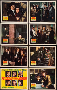 """Murder Among Friends (20th Century Fox, 1941). Lobby Card Set of 8 (11"""" X 14""""). Thriller. ... (Total: 8 Items)"""