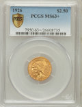 Indian Quarter Eagles: , 1926 $2 1/2 MS63+ PCGS Secure. PCGS Population (3108/3191). NGCCensus: (4194/4056). Mintage: 446,000. Numismedia Wsl. Pric...