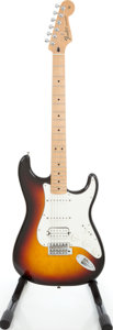 Musical Instruments:Electric Guitars, 2008 Fender Stratocaster Fat Strat Sunburst Solid Body ElectricGuitar, Serial # MZ201628....